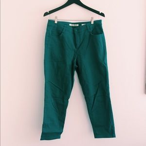 jones new york blueish/green capri pants